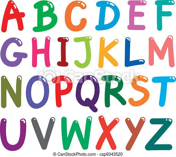 Farbige Buchstaben - csp9343520