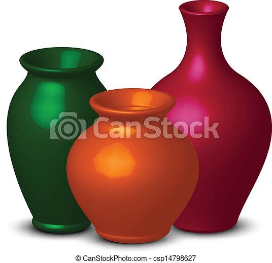 Farbige Vasen - csp14798627