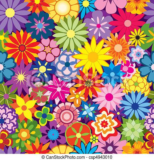 Farbiger Blumen Hintergrund - csp4943010