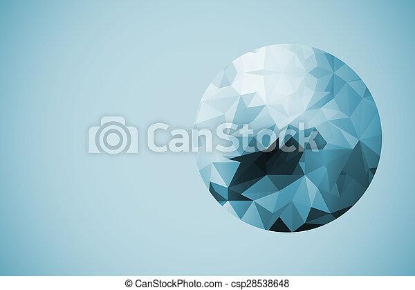 Farbiger polygoner abstrakter Hintergrund. - csp28538648