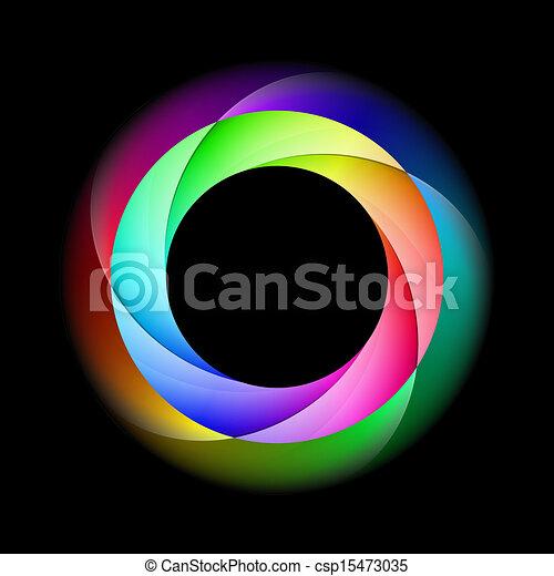 Farbiger Spiralring. - csp15473035
