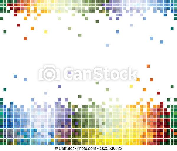 Farbpixels abstrakter Hintergrund - csp5636822