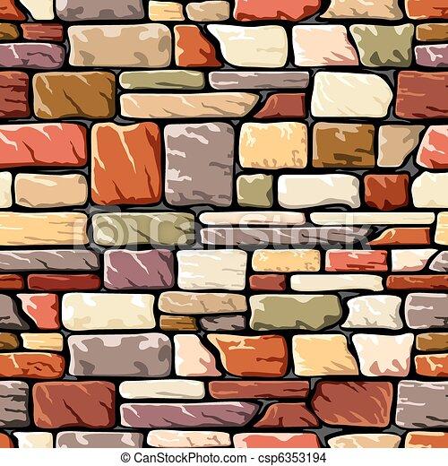 Farbsteinmauer - csp6353194