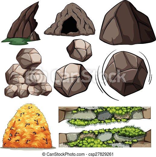 Felsen und Höhlen. - csp27829261