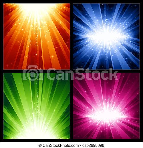 Feste Weihnachten, neue Jahre Explosionen von Licht und Sternen - csp2698098