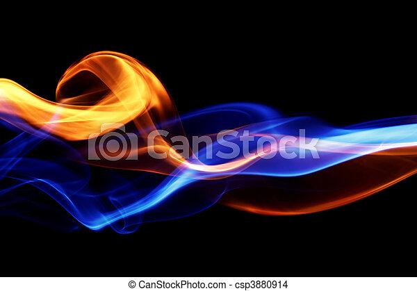 Feuer- und Eisdesign - csp3880914