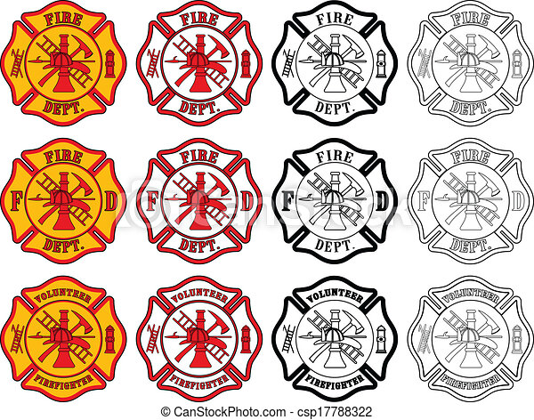Feuerwehrkreuzsymbol - csp17788322