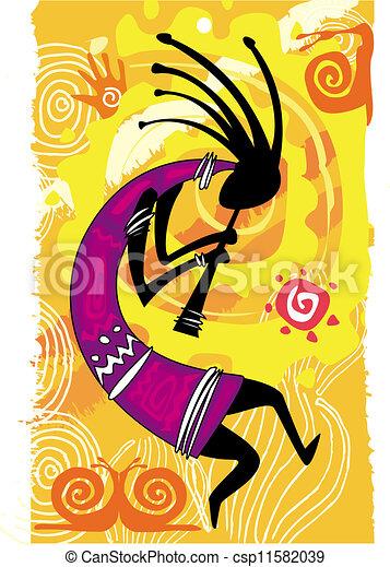 Tanzende Figur - csp11582039