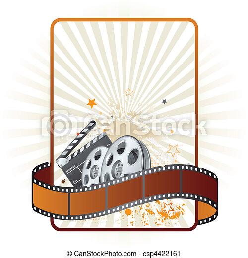 Filmstreifen, Filmthemenelement - csp4422161