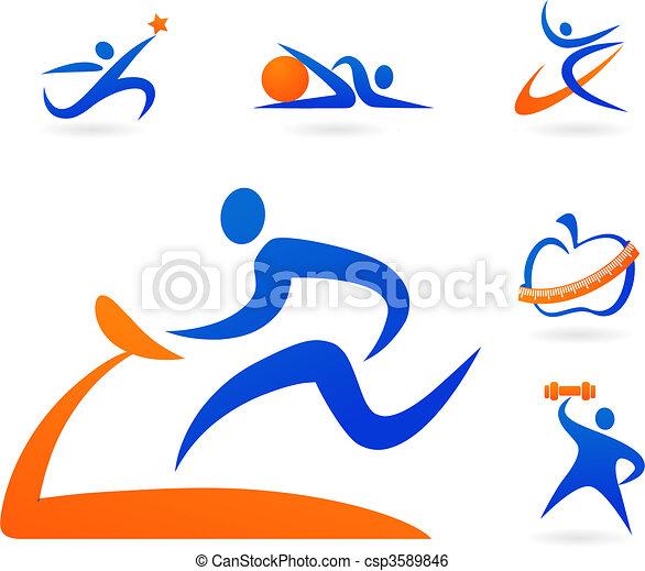 Fitness-Ikonen - csp3589846