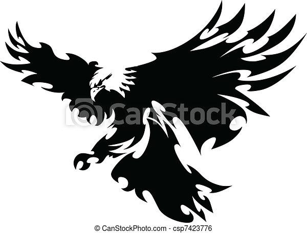 flügeln, adler, maskottchen, design, fliegendes - csp7423776