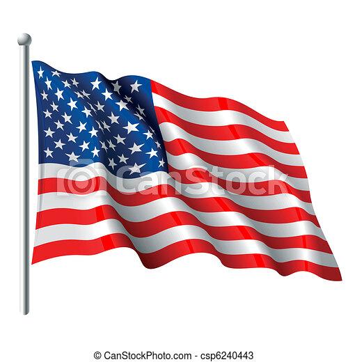 Flagge der USA - csp6240443
