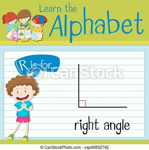 Flashcard Buchstabe R ist rechts. - csp40832742