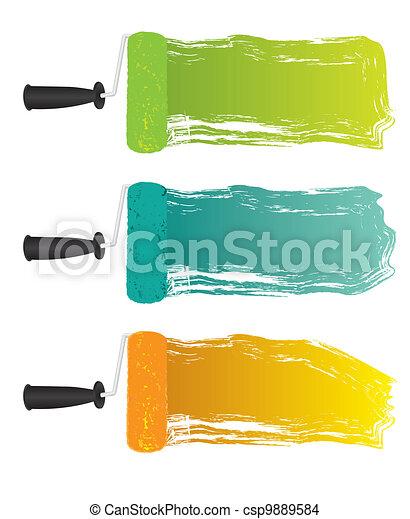 Flecken auf Malerroller - csp9889584