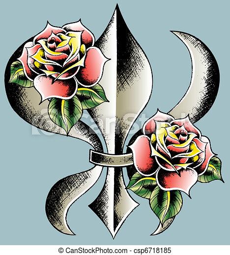 Fleur de lis emblemschild - csp6718185