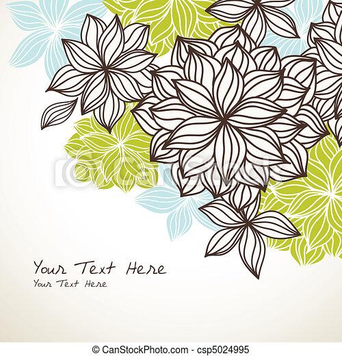 Floral Backecke grünblau - csp5024995