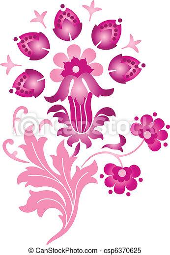 floral entwurf - csp6370625