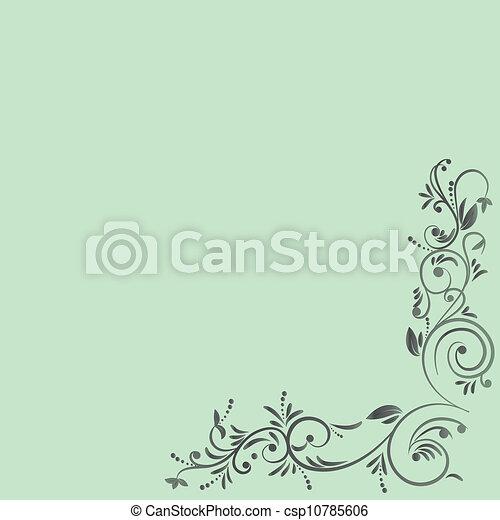 floral entwurf - csp10785606