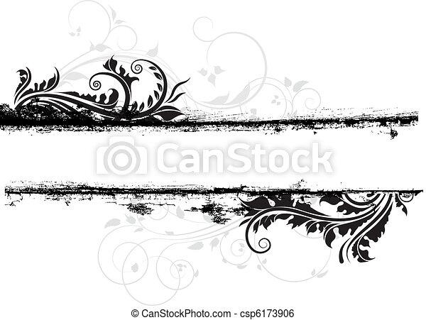 Floral Grunge - csp6173906