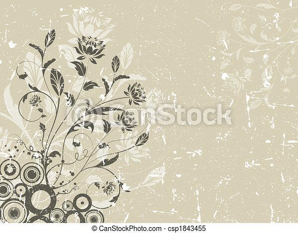 Floral grunge Hintergrund. - csp1843455