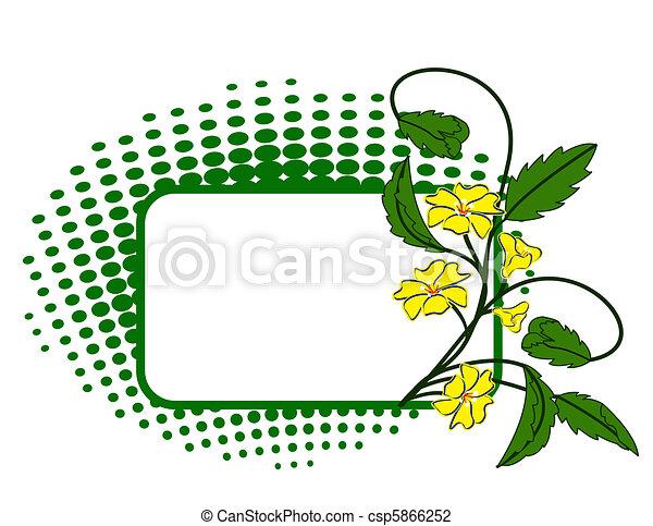 Floral Grunge Hintergrund - csp5866252