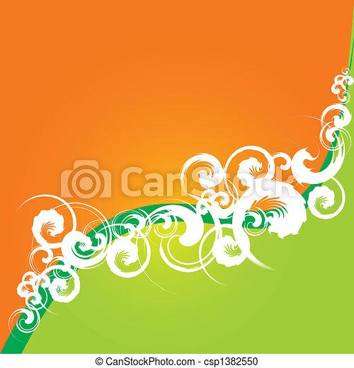 Floral Grunge Hintergrund - csp1382550