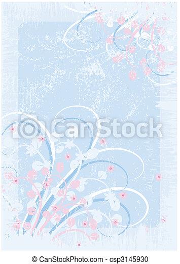 Floral Grunge Hintergrund - csp3145930