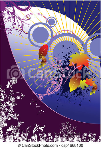 Floral Grunge Hintergrund - csp4668100