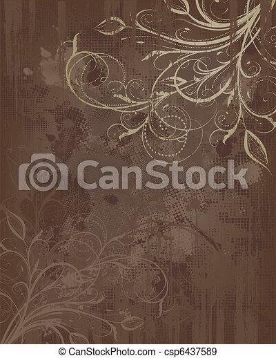 Floral Grunge Hintergrund - csp6437589