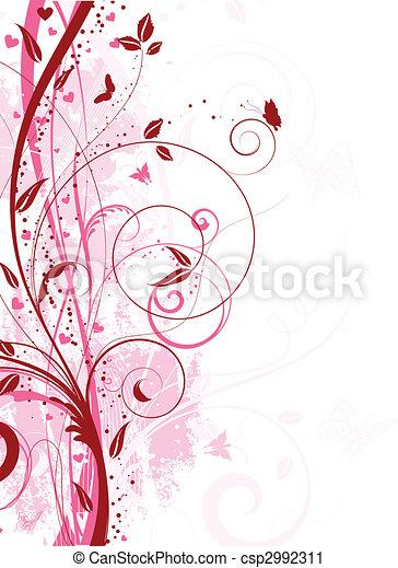 Floral Grunge. - csp2992311