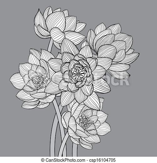 Floral Hintergrund - csp16104705