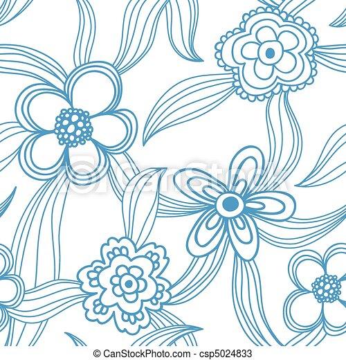Floral nahtlos - csp5024833