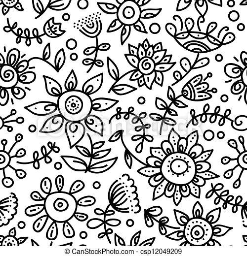 Floral nahtlos - csp12049209