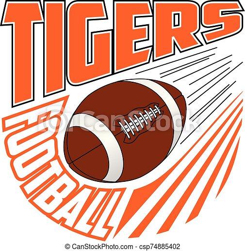 football mannschaft, tiger, design - csp74885402