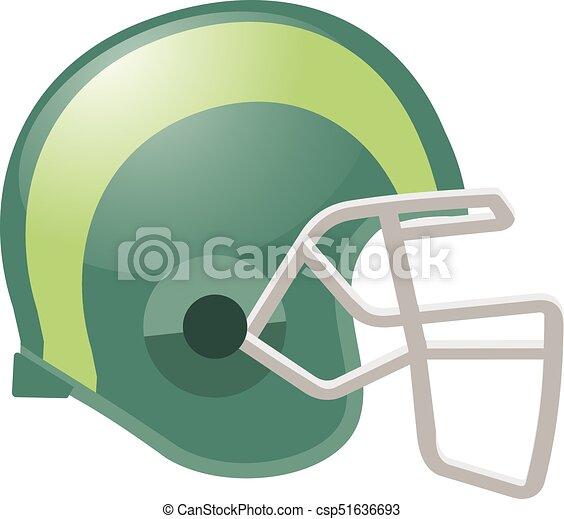Footballhelm. - csp51636693