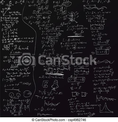 formeln, vektor, hintergrund, physisch - csp4982746