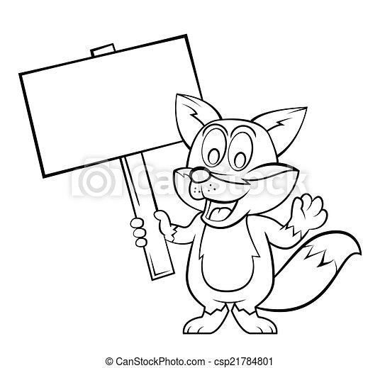 Fox Cartoon. - csp21784801