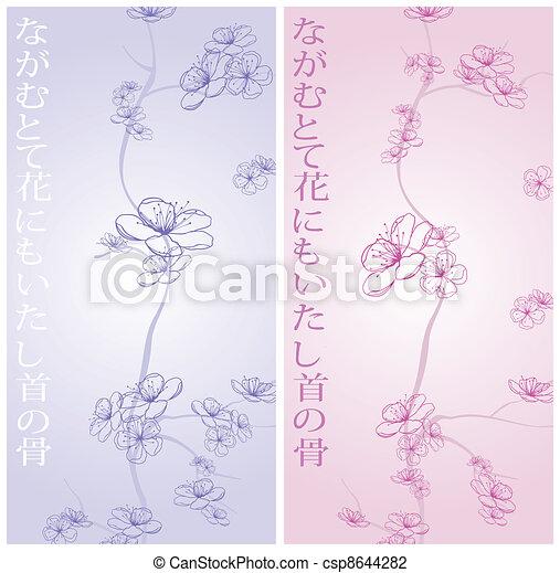 Frühlingsblumenmuster - csp8644282