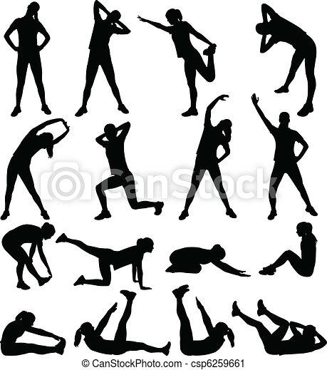 Frauen trainieren - csp6259661