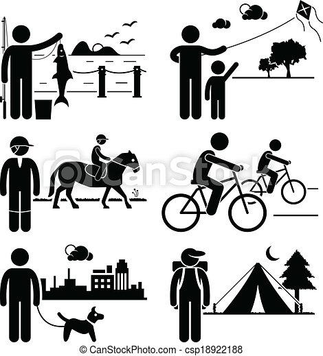 Freizeitreisende im Freien - csp18922188