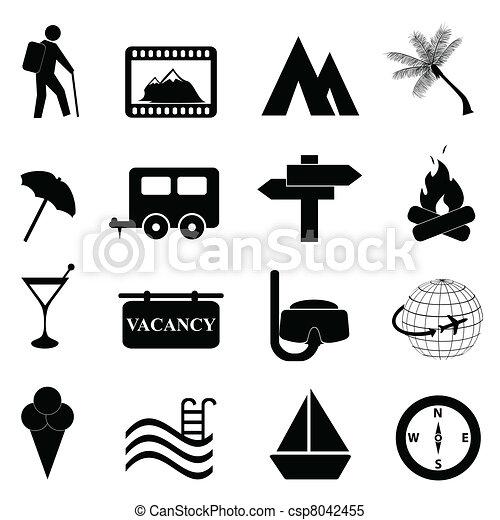 Freizeit- und Freizeit-Icon-Set - csp8042455
