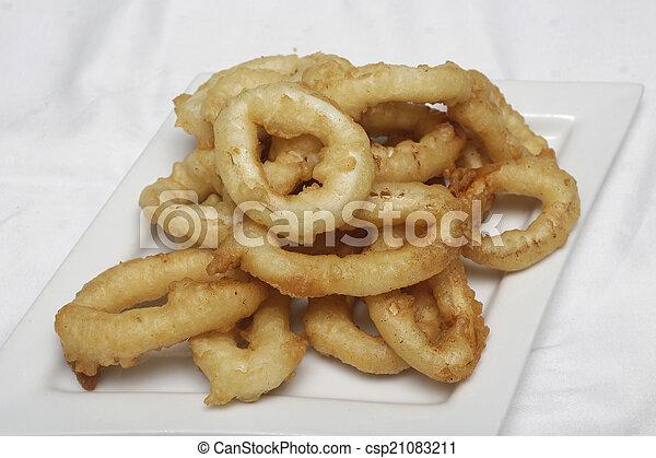 Fried Calamari. - csp21083211