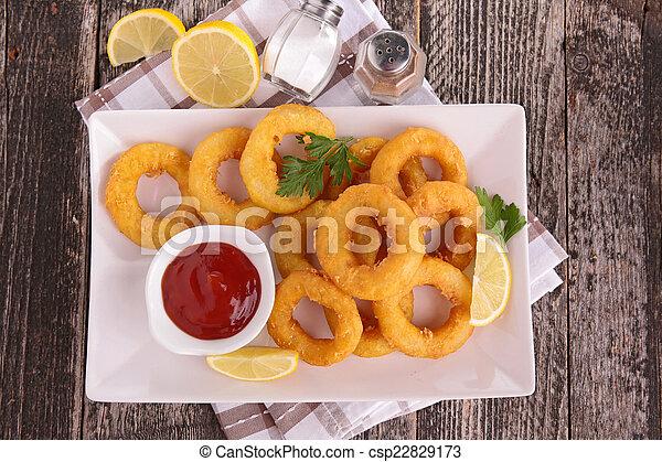 Fried Calamari. - csp22829173