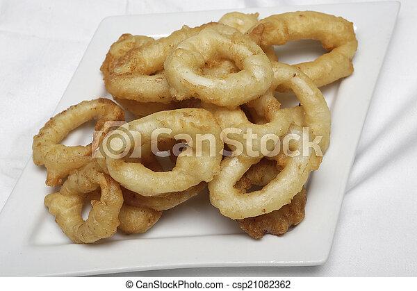 Fried Calamari. - csp21082362