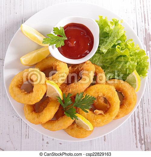 Fried Calamari. - csp22829163
