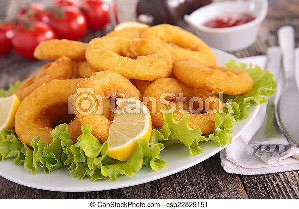 Fried Calamari. - csp22829151