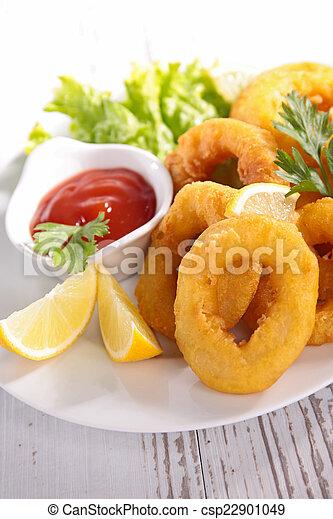 Fried Calamari. - csp22901049