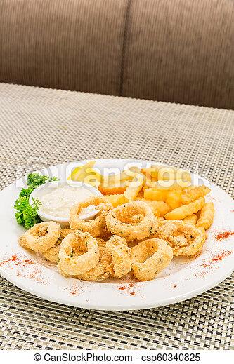 Fried Calamari. - csp60340825