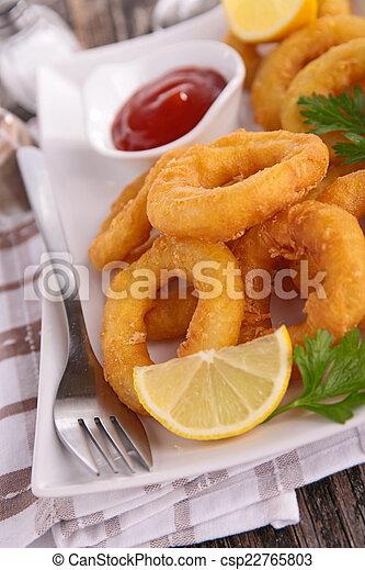Fried Calamari. - csp22765803