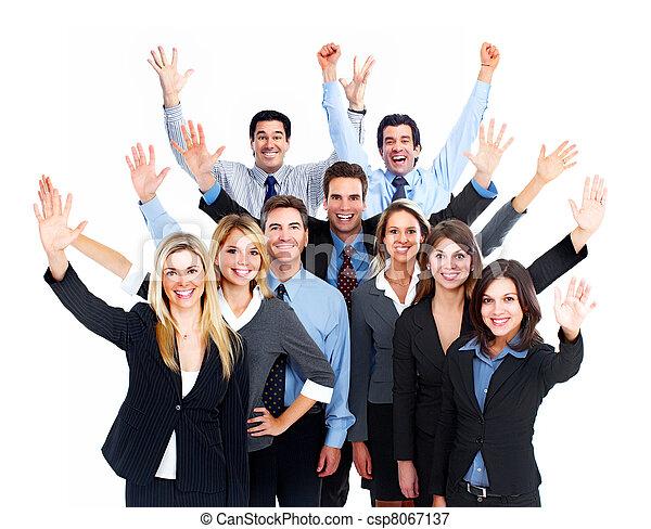 Frohes Geschäftsleute-Team. - csp8067137